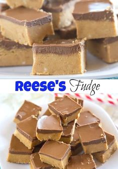 REESE'S FUDGE, Desserts, REESE'S FUDGE - Reese's Fudge - a layer of creamy peanut butter fudge topped with melted chocolate and peanut butter. And easy no bake recipe that is . Desserts Keto, Just Desserts, Delicious Desserts, Easy Bake Desserts, Health Desserts, Yummy Snacks, Oreo Dessert, Easy Baking Recipes, Cookie Recipes