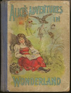 Alice's Adventures in Wonderland. Year: #1900. Country: #US. Illustrations: John Tenniel. Additional Info: Homewood Publishing company Printed edition. #vintage #book #cover #art