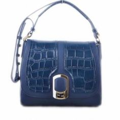 Fendi Anna Croco Shoulder Handbag HL023