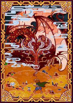 The Hobbit: The Nest of Smaug in Stained Glass by Jian Guo Legolas, Gandalf, Thranduil, Jrr Tolkien, Das Silmarillion, O Hobbit, Hobbit Art, Elfa, Into The West