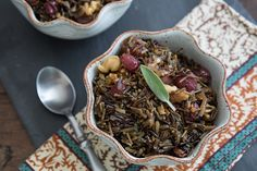 This easy wild rice side dish is made with roasted grapes, fresh sage, and walnuts. If you haven't tried roasting grapes before, prepare to be amazed! ohmyveggies.com