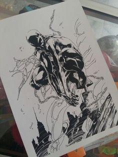 Spiderman 2099 lining