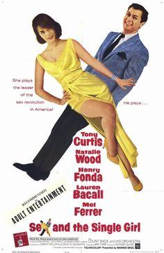 Lauren Bacall, Henry Fonda, Tony Curtis, Natalie Wood. Director: Richard Quine. IMDB: 6.5  https://en.wikipedia.org/wiki/Sex_and_the_Single_Girl_%28film%29 http://www.rottentomatoes.com/m/sex_and_the_single_girl/ http://www.tcm.com/tcmdb/title/16095/Sex-and-the-Single-Girl/ Article: http://www.tcm.com/tcmdb/title/16095/Sex-and-the-Single-Girl/articles.html https://girlsdofilm.wordpress.com/2013/09/22/sex-and-the-single-girl/ http://www.allmovie.com/movie/sex-and-the-single-girl-v43922