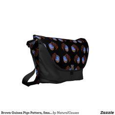 Brown Guinea Pigs Pattern, Small Commuter Bag.. Messenger Bag
