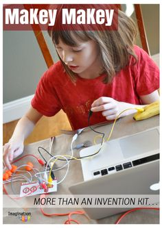 empower inventive thinking & confidence with the MaKey MaKey Invention Kit - I totally recommend this! Stem Projects, Science Projects, Science For Kids, Science And Technology, Computer Science, Project Based Learning, Kids Learning, Science Activities, Activities For Kids
