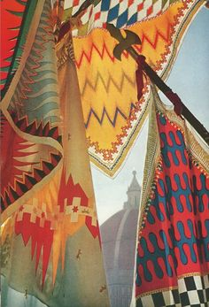 Some of Pucci's early designs were inspired by Italian Renaissance guild flags and banners from the famous Balio horse race in Siena.