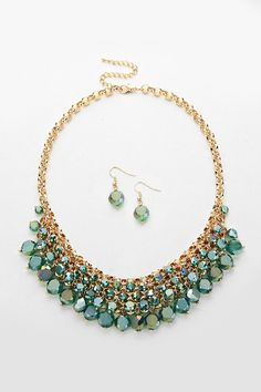 Crystal Capri Necklace in Vitrail Teal on Emma Stine Limited