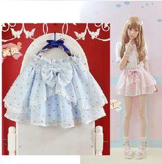 {Free Ship} Lolita Floral Bowknot Layered TUTU Skirt