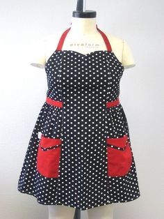 Hey, I found this really awesome Etsy listing at https://www.etsy.com/listing/155374320/retro-apron-plus-size-sweetheart