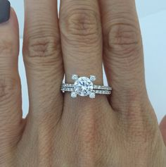 CZ Prong Setting with 1 Carat Cubic Zirconia Engagement Ring Set – CZ Sparkle Jewelry®