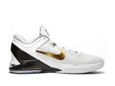 72470cd4e89f Nike Zoom Kobe 7 Elite HOme White Metallic Gold Black