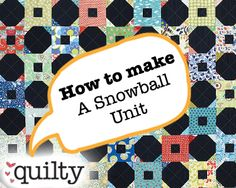 How to Make a Snowball Quilt Block