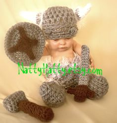 Viking Hat, Diapercover ,boots, Sword And Shield 0 To 18 Months