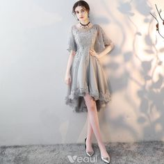Description Cute gray tulle lace short prom dress, gray homecoming dress Material: lace, tulle Size: US US US US US US 12 US 2 Shoulder to 4 Shoulder to 6 Shoulder to 8 Bust(inch) Grey Prom Dress, Short Lace Dress, Prom Dresses With Sleeves, Homecoming Dresses, Short Sleeve Dresses, Graduation Dresses, Formal Dresses, Lace Dresses, Dress Lace