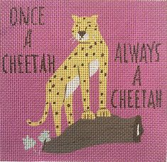 Needlepoint Kits, Silk Thread, Amazon Art, Sewing Stores, Design Crafts, Cheetah, Sassy, Needlework, Mesh
