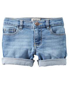 6138b24ac142 Baby Girl Denim Shorts - Sky Blue Wash from OshKosh B gosh. Shop clothing