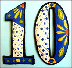 decorative house numbers hand painted metal home decor see more at wwwswitchplatedecor - Decorative House Numbers