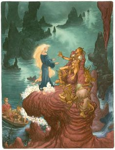 """Illustration from Neil Gaiman's """"Stardust"""" - by Charles Vess"""