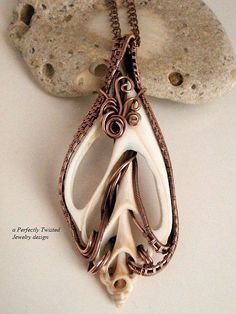 Sold! RESERVED Wire Wrapped Sea Shell Pendant Sliced by PerfectlyTwisted