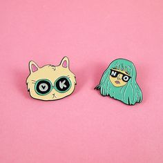 For this sassy pin set Im so excited to have collaborated with Toby of iLikeCats, who is one of my favourite UK-based illustrators. When designing this