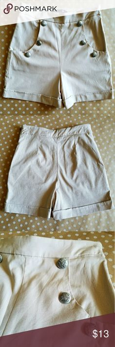 Forever 21 High Waist Sailor Shorts Size 2. Excellent condition. Perfect for Fourth of July! Forever 21 Shorts
