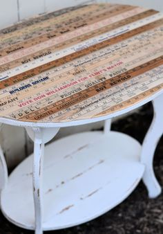 Shabby Love: Yardstick Table (thinking about doing something similar, using a puzzle that my uncle put together and framed for me)
