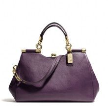 Coach Madison Carrie Satchel in Leather - Lyst