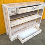 Pallet Shoe Rack and Chest of Drawers