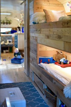 Beautiful Interior Bus Camper Conversion For Tour - Decomagz Bus Camping Car, Rv Bus, Airstream Camping, Camping Diy, Rv Travel Trailers, Travel Trailer Remodel, Camper Trailers, School Bus Conversion, Camper Conversion