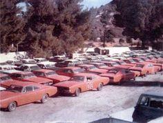 Who didn& like the Dukes of Hazzard? Boss Hoggs, Luke, etc. Cars were at a premium. General Lee Car, Junkyard Cars, Dukes Of Hazard, Dodge Muscle Cars, Chrysler Cars, Abandoned Cars, American Muscle Cars, Mopar, Dream Cars