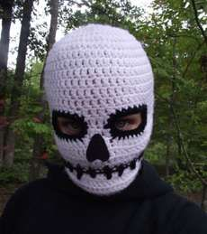 The Death Mask Will Scare the Heck Out of Halloween Goers #crochet #diy trendhunter.com