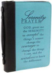 $12.50 LuxLeather Blue Serenity Prayer Medium Bible Cover Bible Covers, Serenity Prayer, Inspirational Gifts, Prayers, My Love, Medium, Blue, Products, Tooled Leather