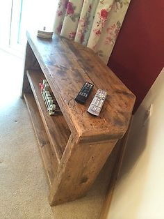 RUSTIC FARMHOUSE STYLE CORNER TV UNIT / STAND - CAN MAKE ANY SIZE - 07985 161977