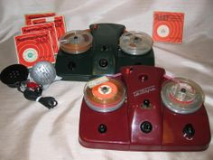 "TELTAPE RECORDER 1957. Germany. Advertised as the ""world's lowest priced portable transistor tape recorder,"" and also the world's lowest quality recorder. A Consumer Reports review found that ""the recordings were so excessively distored as to be unintelligible."" Nonetheless lots of these were sold."