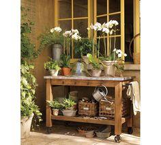 Pottery Barn potting bench inspiration