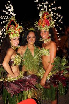FRESCO sombrero del traje de la danza tahitiana enviado envío