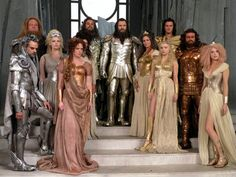 this is an image from the archive of movie costumes made by Patrick Whitaker & Keir Malem-Whitaker Malem. Greek God Costume, Greek Goddess Costume, Mythology Costumes, Greek Gods And Goddesses, Greek Mythology, Roman Dress, Roman Gods, Clash Of The Titans, Fantasy Costumes