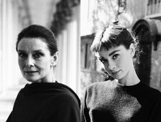 """I decided, very early on, just to accept life unconditionally; I never expected it to do anything special for me, yet I seemed to accomplish far more than I had ever hoped. Most of the time it just happened to me without my ever seeking it."""" - Audrey Hepburn (Left: Audrey Hepburn, 1988. Right: Audrey, 1953.)"""