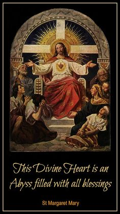 """Margaret Mary - """"This Divine Heart is an Abyss with all blessings."""" ~ The Cloistered Heart Catholic Art, Catholic Saints, Roman Catholic, Catholic Prayers, Inspirational Catholic Quotes, Inspiring Quotes, Samurai, St John Vianney, St Margaret"""