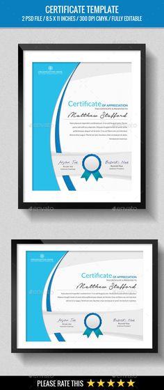 Certificate Ai illustrator, Certificate and Template