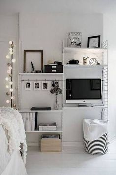 small bedroom decor ideas modular shelf