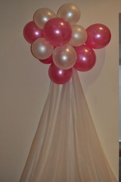 Cant go wrong with balloons and organza for jazzing up a room