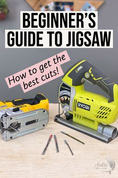 Simple and complete beginner's tutorial on how to use a jigsaw. Learn how to choose the blade, how to make circle cuts, how to cut straight line, how to cut rectangles. #anikasdiylife