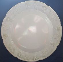 "Harvest Grape Milk Glass Indiana Chop Plate Platter 14"""