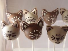 Kitty Cat Two Color Cake Pops by SoSweetPops on Etsy