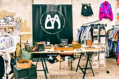 Yaga exhibiting her accessories Vintage Market, Conference Room, Table, Accessories, Furniture, Home Decor, Vintage Marketplace, Decoration Home, Room Decor