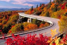 Linn Cove Viaduct/Grandfather Mountain...Blue Ridge Parkway, NC. Incredible views.