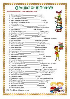 Gerund or Infinitive – Fill in the correct form.I hope you find it useful. Have a nice weekend!! - ESL worksheets