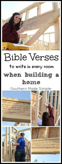 When building a new home, write scriptures on the studs of your home that are relevant to each room of the house! DEFINITELY DOING THIS