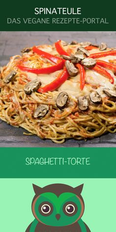 Leckere Spaghetti-Torte :D Ein geniales Rezept von Peffe dem Veganizer. Klicke, um jetzt dieses vegane Rezept auf der Spinateule zu entdecken.